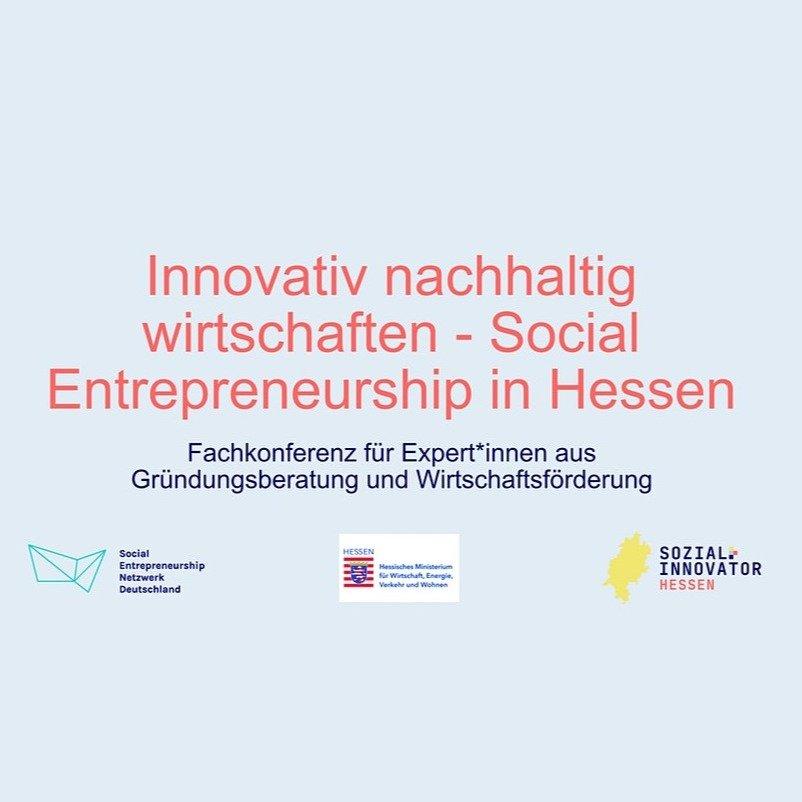 Innovativ nachhaltig wirtschaften - Social Entrepreneurship...