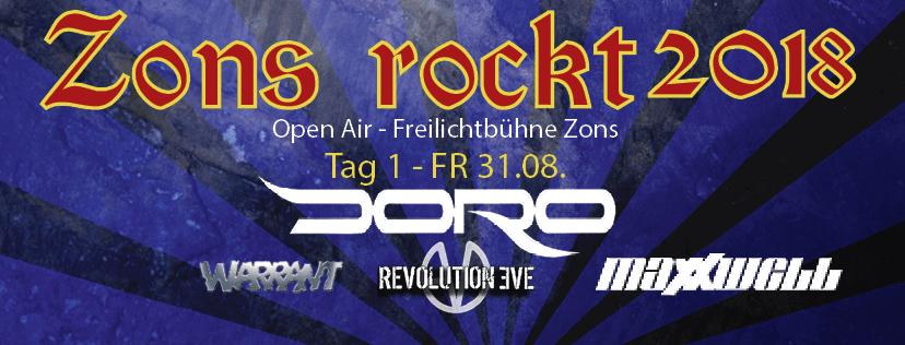 Zons rockt 2018 – Open Air – Freilichtbühne Zons