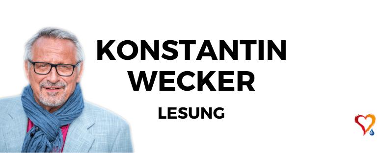 """KONSTANTIN WECKER musikalische Lesereise """"Aus dem schrecklic..."""