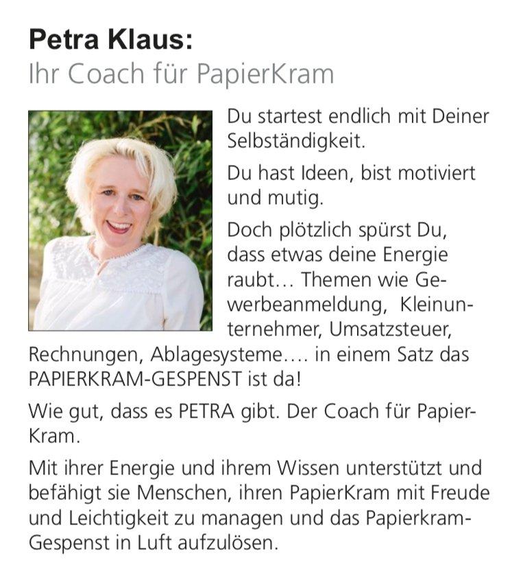 Petra Klaus #fraumussmankönnen