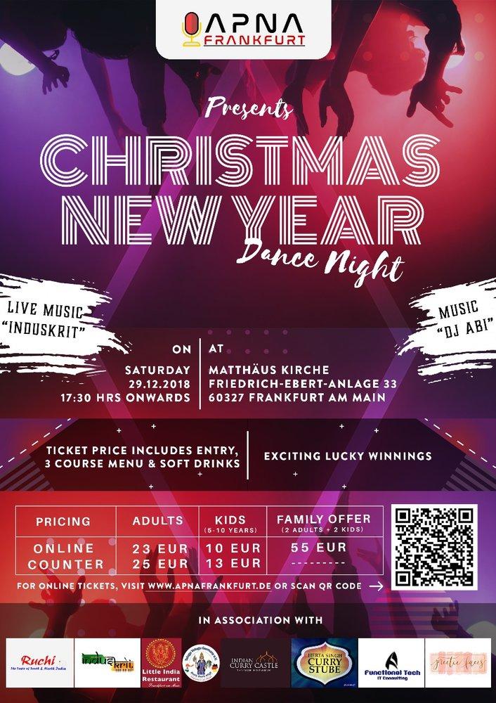 Christmas and New Year Dance Night